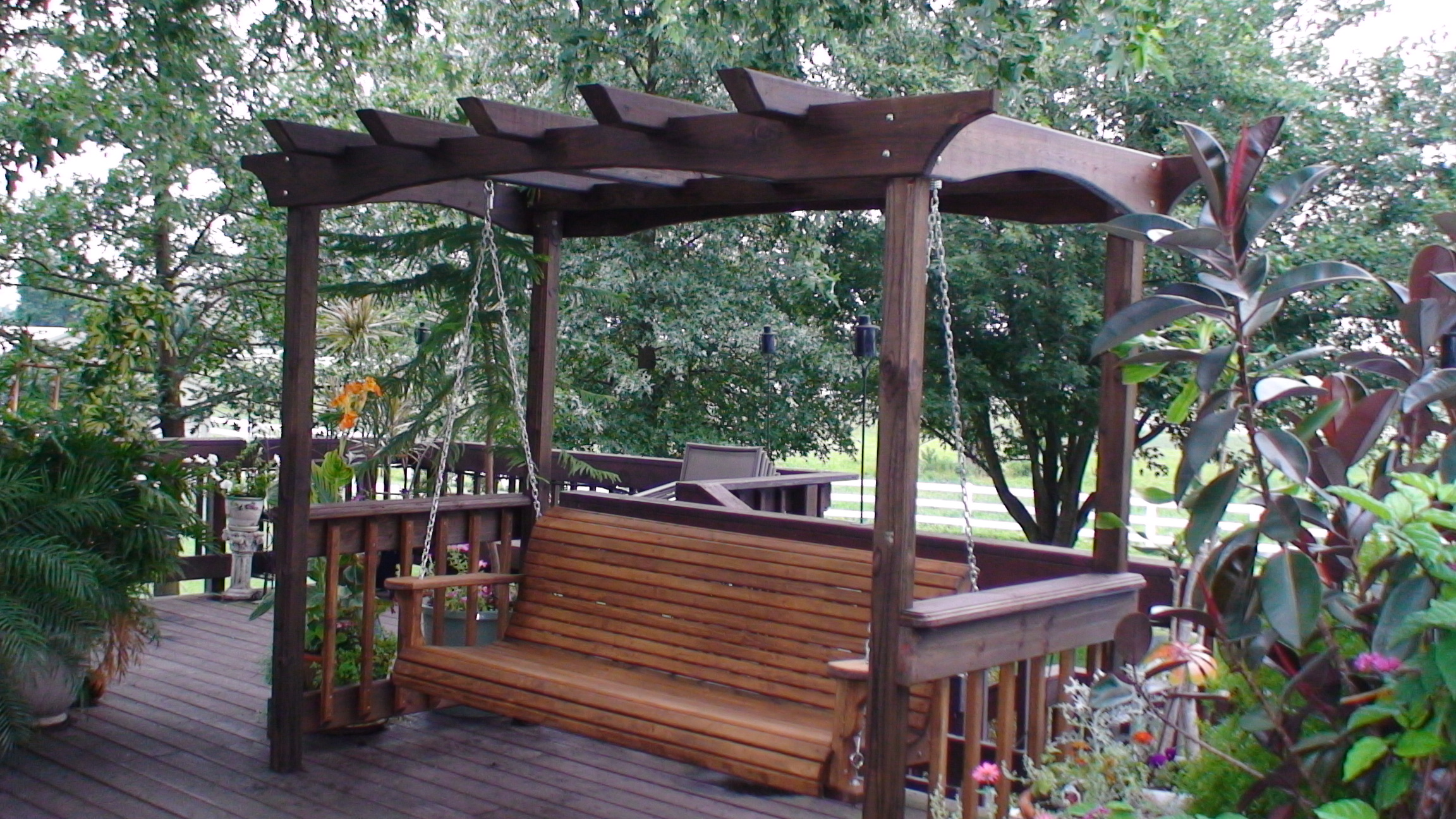 Customer testimonials about our porch swing plans - Arbor bench plans set ...