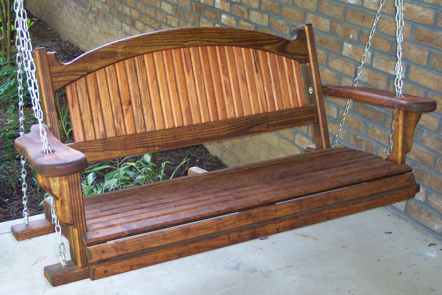 Wooden Garden Swing Bench Plans Garden Ideas